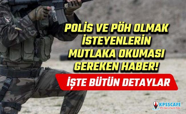 POMEM, PÖH, PAEM, PMYO başvuru şartları! 2019 polislik alım başvuruları EGM açıklaması!