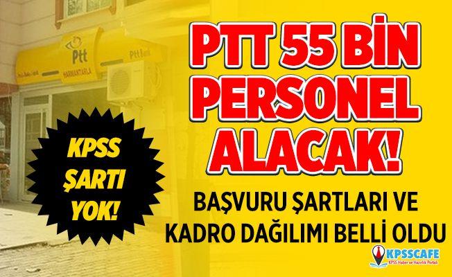 PTT 2019/1 KPSS şartsız personel alımı başvuru şartları açıklaması! 55 bin PTT personel alımı başladı mı?