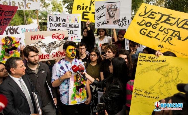 Öğrencilerden özel yetenek sınavı protestosu: Yetenek optikle sınanamaz