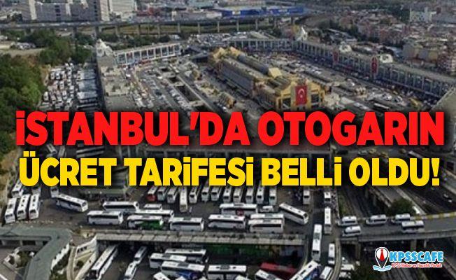 İstanbul'da otogarın ücret tarifesi belli oldu!