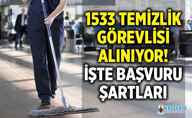 İŞKUR yeni temizlik iş ilanları 1.533 temizlik personeli alımı yapılacak!