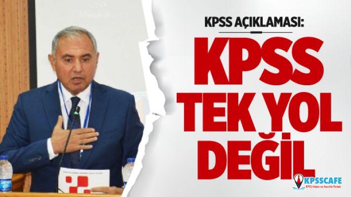 Sütcü: 'KPSS tek yol değil, girişimciliği teşvik edelim'