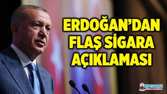 Erdoğan'dan Flaş Tek Tip Sigara Paketi Açıklaması!