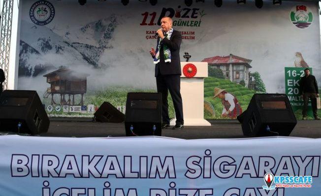 Erdoğan İstanbul'daki Rize toplantısında: Sigara haramdır, tek tip pakete geçiyoruz