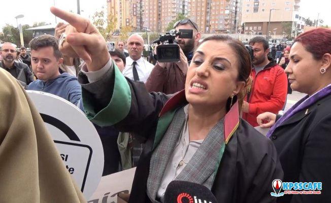 Emine Bulut duruşması sonrası iki grup kadın arasında tartışma çıktı