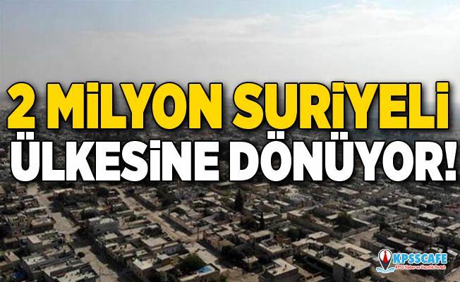 2 milyon Suriyeli ülkesine dönüyor!