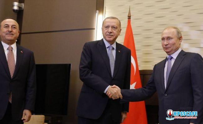 Putin'le Erdoğan, Suriye'nin kuzeyini görüşmek için Soçi'de bir araya geldi