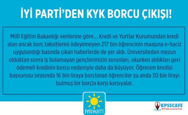 İYİ Parti'den KYK Borcu Çıkışı! KYK Borcu Önergesi TBMM'de Reddedildi!