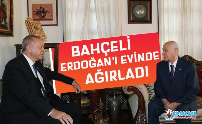 Devlet Bahçeli, Erdoğan'ı Evinde Ağırladı!