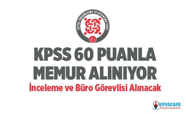 KPSS 60 Puanla İnceleme ve Büro Görevlisi Alınıyor! İşte Başvuru Şartları...