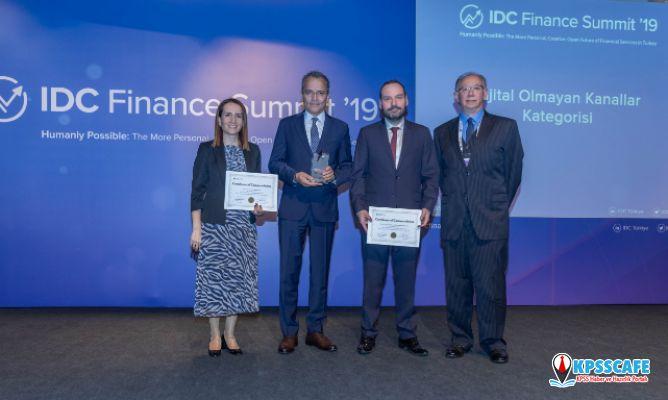 Anadolu Sigorta'ya IDC Finans Zirvesi 2019'dan Dijital Dışı Kanallar Kategorisinde Birincilik Ödülü