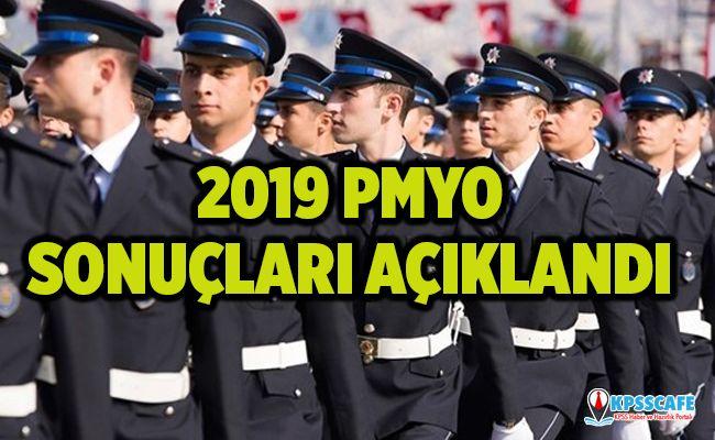 2019 yılı PMYO Giriş Sınavı sonuçları açıklandı