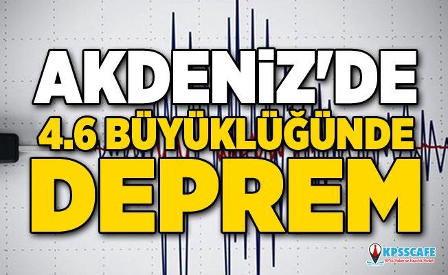 Türkiye beşik gibi sallanıyor! Muğla 4.6'lık depremle sallandı