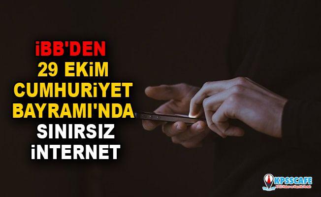İBB'den 29 Ekim Cumhuriyet Bayramı'nda sınırsız internet