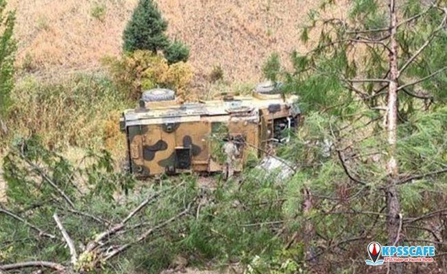 Kahramanmaraş'ta askeri araç devrildi! Yaralılar var