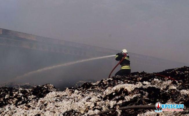Aydın'da pamuk deposunda yangın: 2 bin ton pamuk kül oldu