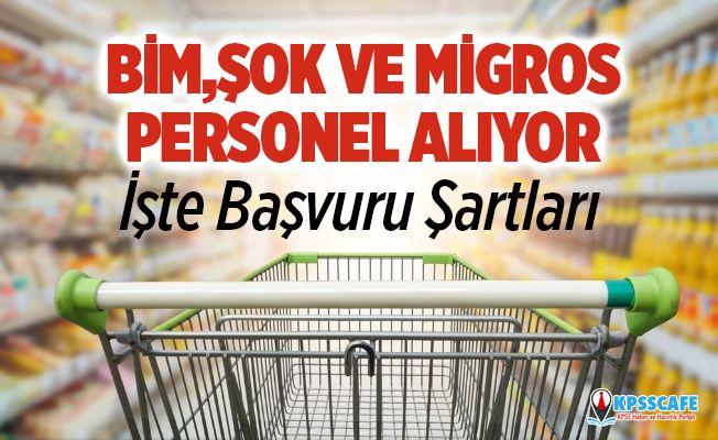 ŞOK BİM ve Migros işçi alımı yapıyor! İşte İŞKUR başvuru şartları ve ilanlar