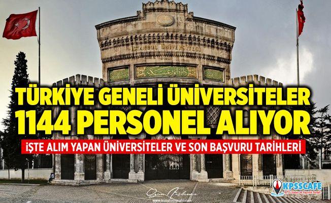 Türkiye Geneli Üniversiteler 1144 Personel Alıyor! İşte Personel Alımı Yapan Üniversiteler!