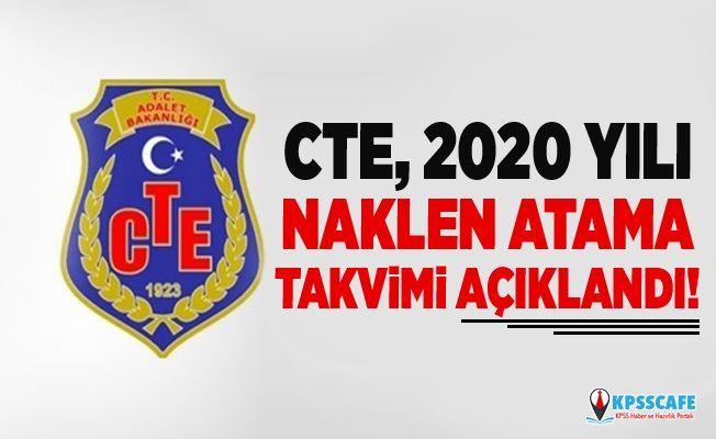 CTE, 2020 yılı naklen atama takvimi açıklandı!