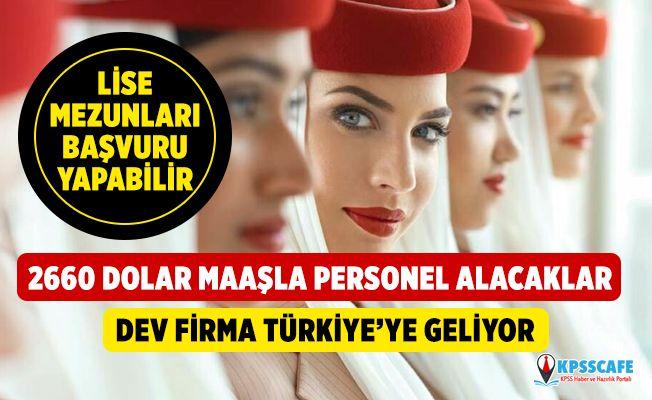 Emirates Havayolları, 2 Bin 660 Dolar Maaşla Lise Mezunu kabin görevlisi alımı için Ankara'ya geliyor