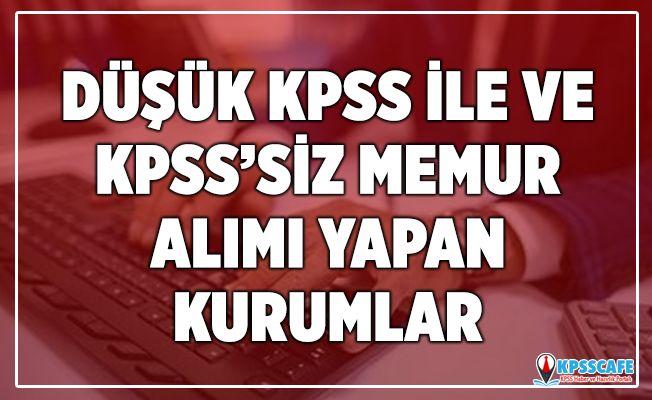 Düşük KPSS ve KPSS'siz Alım Yapan Kurumlar!