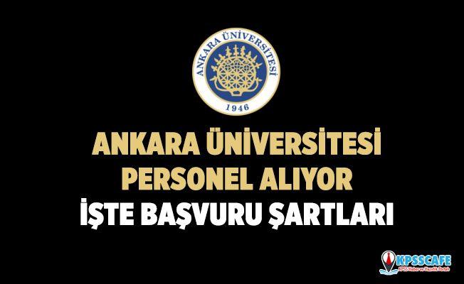 Ankara Üniversitesi Personel Alıyor! İşte Başvuru Şartları...