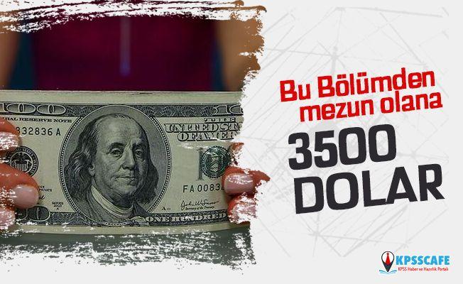 Bu Bölümden Mezun Olana 3500 Dolarla Staj İmkanı!