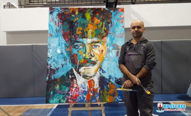 Atatürk Portreleri Tolga Ertem önderliğinde GEO Koleji'nde Renklendi