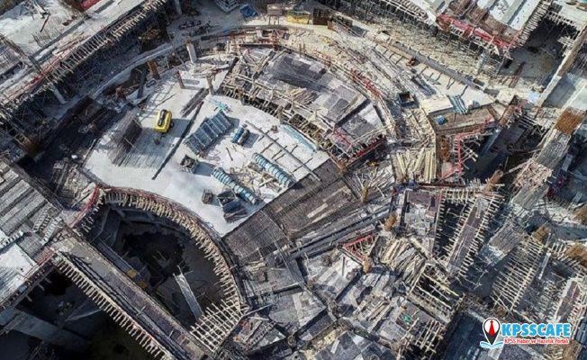 Yeni AKM'de kaba inşaatın yüzde 60'ı bitti