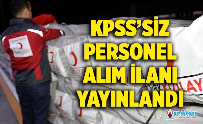 Kızılay KPSS şartsız personel alım başvuruları başladı! Kızılay personel alımı başvuru şartları neler?