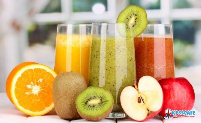 İnce bel ve düşük kilo için yüzde 100 meyve suyu