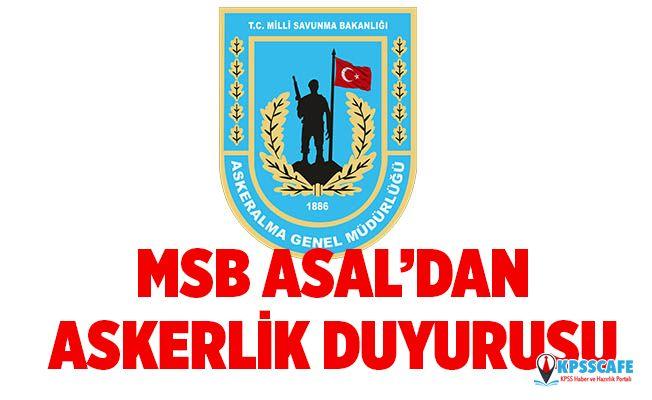 MSB'den Askerlik Duyurusu!