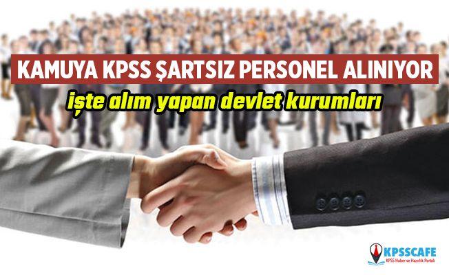 Kamuya KPSS'siz Kamu Personeli Alınıyor! İşte Detaylar...