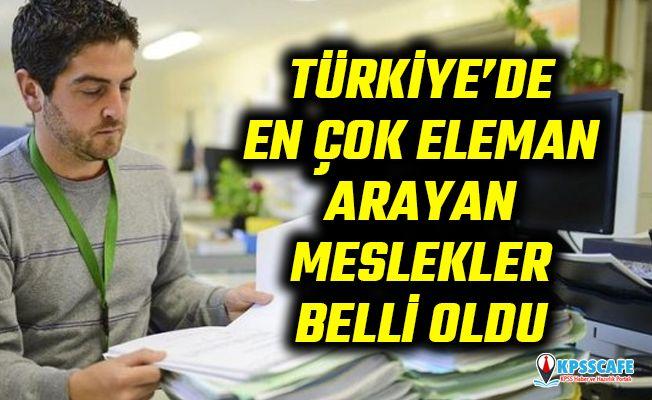 Türkiye'de en çok eleman arayan meslekler belli oldu