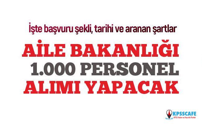 Aile, Çalışma ve Sosyal Hizmetler Bakanlığı 1.000 Sözleşmeli Personel alacak