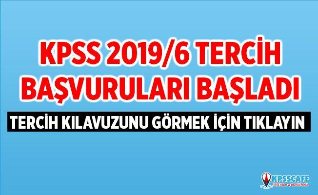 KPSS 2019/6 Tercih Başvuruları Başladı!