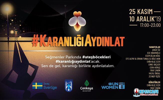 Işık enstalasyon sergisi, kadınlara yönelik şiddete karşı 'KaranlığıAydınlat'acak