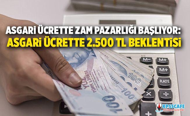 Asgari ücrette zam pazarlığı başlıyor: Asgari ücrette 2.500 TL beklentisi
