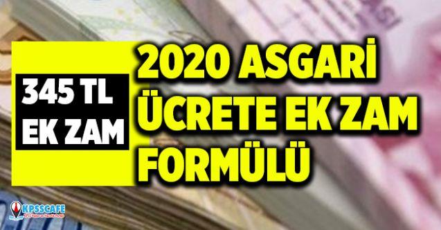 Asgari Ücrete Ek Destek Formülü! 2020 Asgari Ücrete Ek 345 TL Zam!