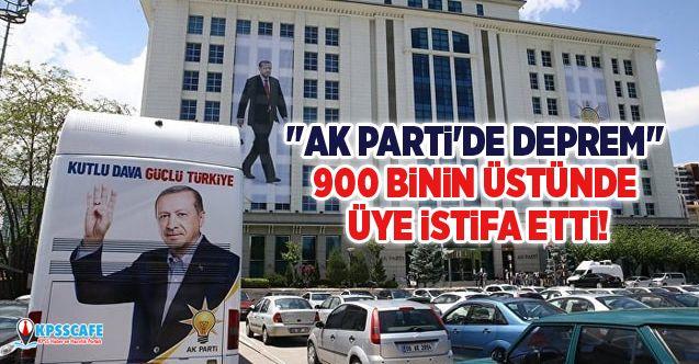 """''AK Parti'de Deprem"""" 900 binin üstünde üye istifa etti!"""