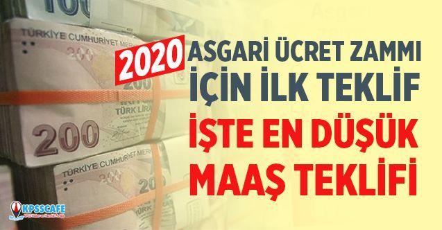 2020 Asgari Ücret İçin İlk Teklif Geldi! İşte En düşük Maaş!