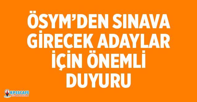 YDS Sınavına Girecek Adaylara ÖSYM'den Uyarı!