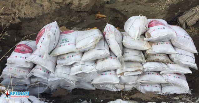 Van'daki operasyonda kırsal alanda 2 ton amonyum nitrat bulundu!