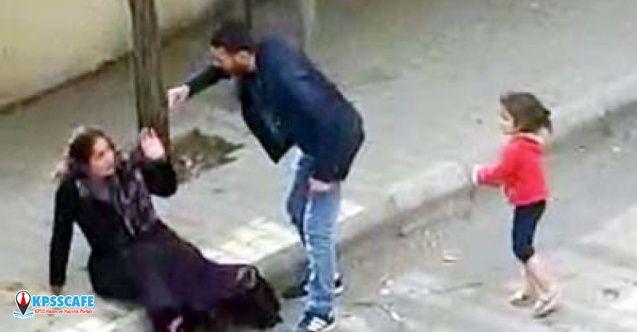 Eşini sokak ortasında, çocuğunun önünde döven koca hakkında flaş karar!