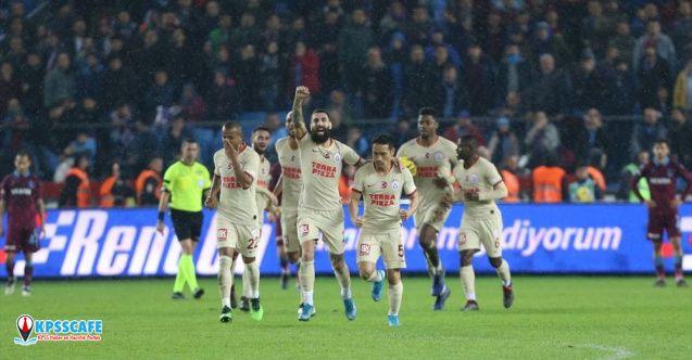 Nefes kesen maçta Trabzonspor ile Galatasaray puan paylaştı!