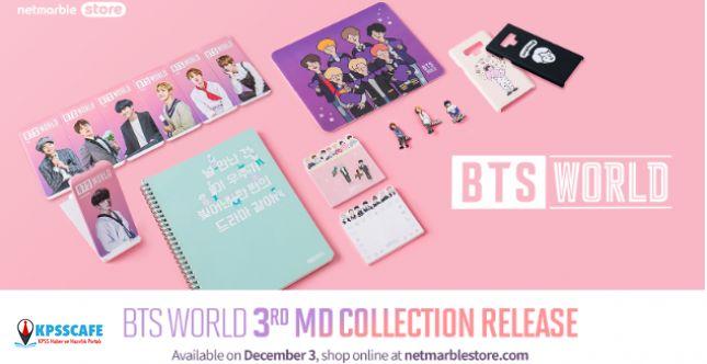 BTS WORLD'ün yeni ürün koleksiyonu 3 Aralık'ta Netmarble Store'da!
