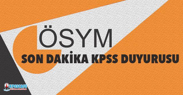 ÖSYM'den Son Dakika KPSS Duyurusu!