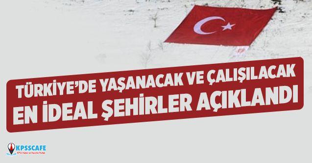 Türkiye'de Yaşanacak ve Çalışılacak En İdeal Şehirler Açıklandı!