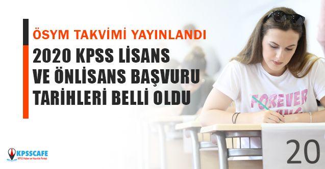 ÖSYM KPSS lisans, ön lisans başvuru tarihleri