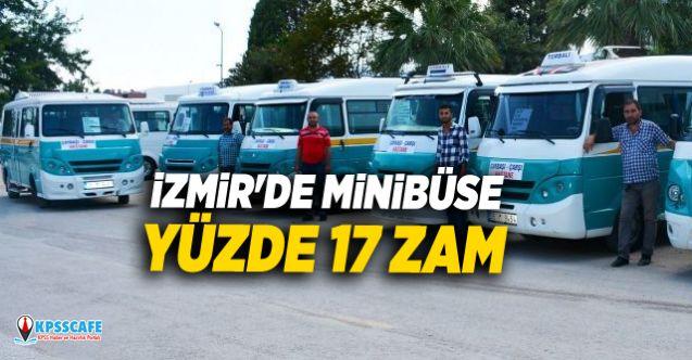 İzmir'de minibüse yüzde 17 zam!